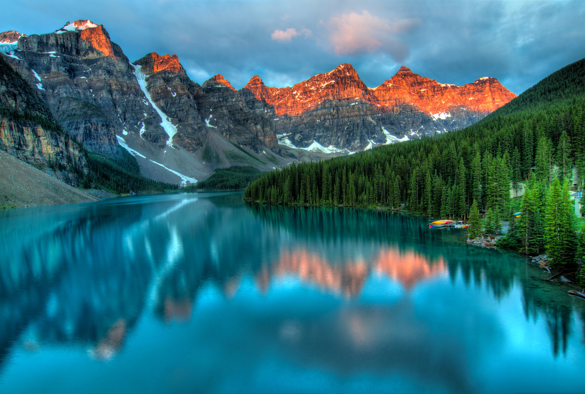 Moraine Lake Sunrise North America