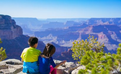 Children at the Grand Canyon